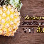 สับปะรด,เซราไมด์จากสับปะรด,ประโยชน์ของเซราไมด์จากสับปะรด,คุณสมบัติของเซราไมด์จากสับปะรด
