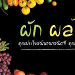 ผักผลไม้,ประโยชน์ของผักผลไม้,ผักผลไม้ช่วยเรื่องสุขภาพ,กินผักผลไม้เพื่อลดความอ้วน